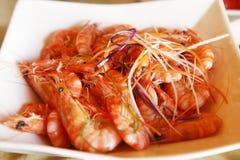 gotowana chińska garnela Fotografia Stock