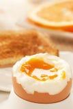 gotowana jajeczna miękka część Obrazy Royalty Free