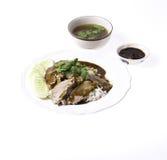 Gotowana kaczka na ryż Zdjęcia Royalty Free