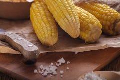 Gotowana kukurudza na Cobs Fotografia Stock