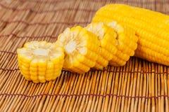 Gotowana kukurudza. Zdjęcia Stock