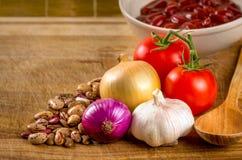 Gotowane czerwone cynaderki fasole Fotografia Stock