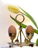 gotowany jajek stylu dwa rocznik Fotografia Stock
