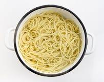 Gotowany spaghetti Zdjęcia Stock