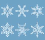 gotowe płatki śniegu Fotografia Stock
