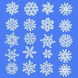 gotowe płatki śniegu Wakacyjna kolekcja tła błękitny inkasowy ilustracyjny płatków śniegów wektor również zwrócić corel ilustracj ilustracji