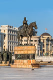 Gotse Delcev horseman monument in Skopje Stock Images