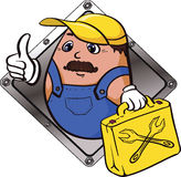 Gott arbete - symbol. stock illustrationer