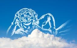 Gott auf Wolken lizenzfreie abbildung
