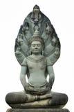 Gott, der sitzende Steinmeditation der Statue schnitzt Lizenzfreie Stockfotos