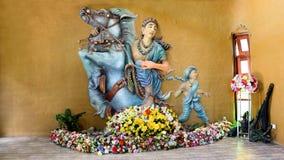 Gott Devata - Gottheit auf Pferd stockfotografie