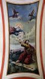 Gott gibt Mosese die zehn Gebote Stockfotografie