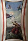Gott gibt Mosese die zehn Gebote Lizenzfreie Stockbilder