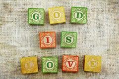 Gott ist Liebe Stockfoto