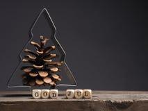 Gott Jul, frohe Weihnachten lizenzfreies stockfoto
