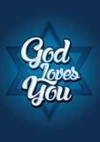 Gott liebt Sie Stockbild