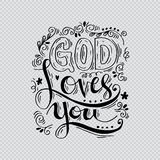 Gott liebt Sie vektor abbildung