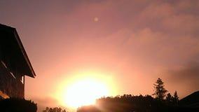 gott morgonsolsken Arkivfoto