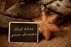 Gott segnen Ihre Träume lizenzfreie stockfotos