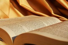 Gott und die Bibel stockfoto