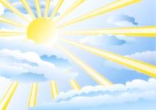 gott väder vektor illustrationer
