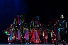 Gott wird-nuo Tanz-akrobatische showBaixi Traum-Nacht Lizenzfreies Stockbild