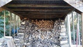 Old woodshed stock image