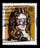 Gottfried Wilhelm Leibniz 1646-1716, Ευρώπη: Σημαντικές προσωπικότητες serie, circa 1980 Στοκ Φωτογραφίες