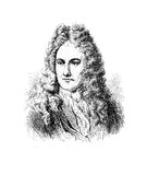 Gottfried Wilhelm von Leibniz, German philosopher Stock Photography