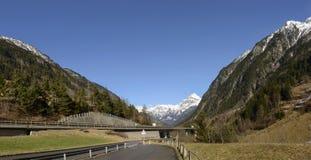 A2 Gotthard highway near Goshenen, Switzerland Stock Photography