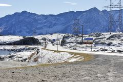 Gotthard Pass, Suisse - taille 2 106 m Photo stock