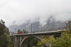 Gotthard pociąg Fotografia Stock