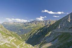 Gotthard przepustki ulica Obrazy Stock