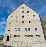 Gotthard, Switzerland. Hospice at the mountain pass. Summer time Stock Photography