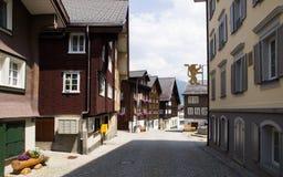 Gotthard Town Hospental in der Schweiz Stockbild