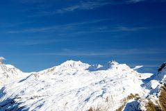 Gotthardmassiv. Sunny winter day in the Alps Stock Photography