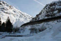 Gotthardstrasse Schweiz Arkivbilder