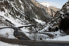Gotthardstrasse, Szwajcaria Obrazy Royalty Free