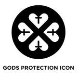 Gottschutz-Ikonenvektor lokalisiert auf weißem Hintergrund, Logo c lizenzfreie abbildung