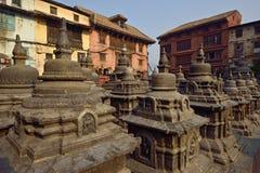 Gottstatue im Affetempel Nepal Stockfoto