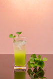 Gotu kola's leafs drink Stock Image