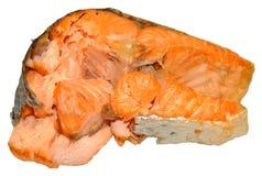 Gotujący łososiowy stek Obrazy Royalty Free