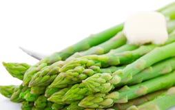 Gotujący asparagus Z masłem fotografia royalty free