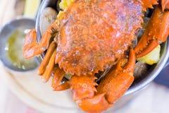 Gotujący Gotowany Gigantyczny krab zdjęcia stock