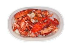 Gotujący homar w małym pieczenia naczyniu zdjęcia stock