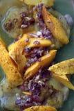 Gotujący wieprzowina mango i kotleciki obraz stock