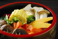gotujący mieszani warzywa Zdjęcie Stock