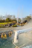 Gotuje się jajko z Chiangmai Gorącą fontanną. Zdjęcia Stock