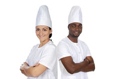 gotuje szczęśliwej drużyny Fotografia Royalty Free