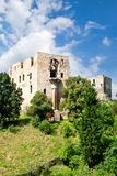 Gotyk grodowy Krakovec od 1383 blisko Rakovnik, republika czech Zdjęcie Stock